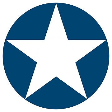 AIR FORCE, USAF, STAR, MILITARY, CIRCLE, SYMBOL, WWII, USA, May 1942, to July 1943. American by TOMSREDBUBBLE