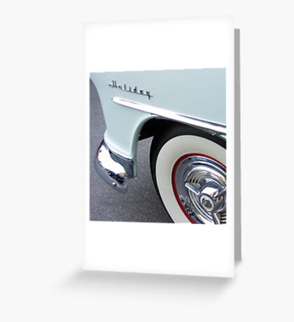 oldsmobile holiday, route 66 Greeting Card