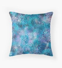 Shelley by the Sea _ Iridescent Pond Throw Pillow