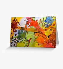 Monet Mice Greeting Card