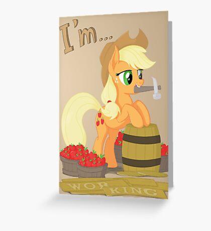 I'm... Applejack Greeting Card