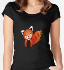 Cute Red Panda Graphic Women's Fitted Scoop T-Shirt