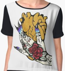 Heart is Gold and your Hands are Cold Women's Chiffon Top