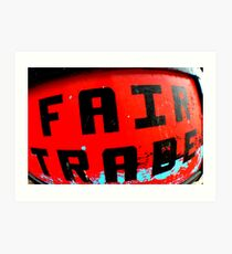 fair trade boat Art Print