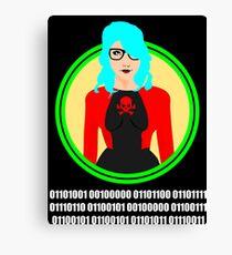 i love geeks ( binary code ) Canvas Print