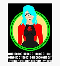 i love geeks ( binary code ) Photographic Print
