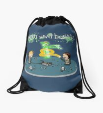 Ghosts and Busters Drawstring Bag