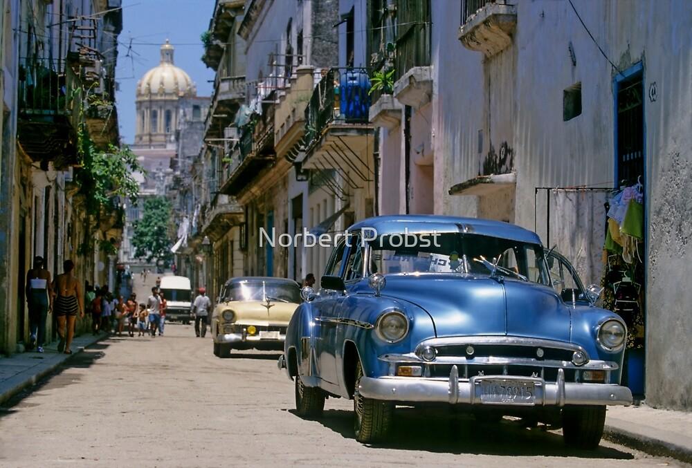 Havana Side Street by Norbert Probst
