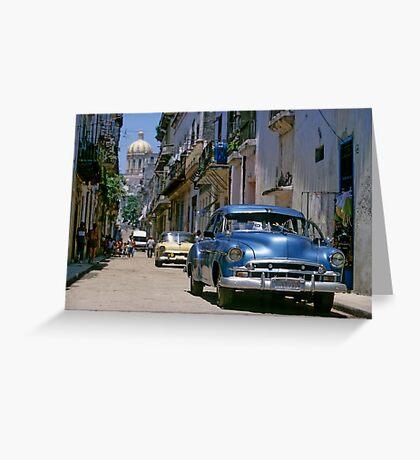 Havana Side Street Greeting Card