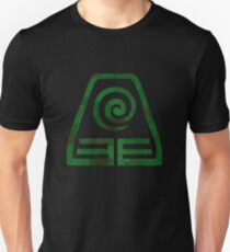 Watercolor Earth Kingdom Symbol (on black) Unisex T-Shirt