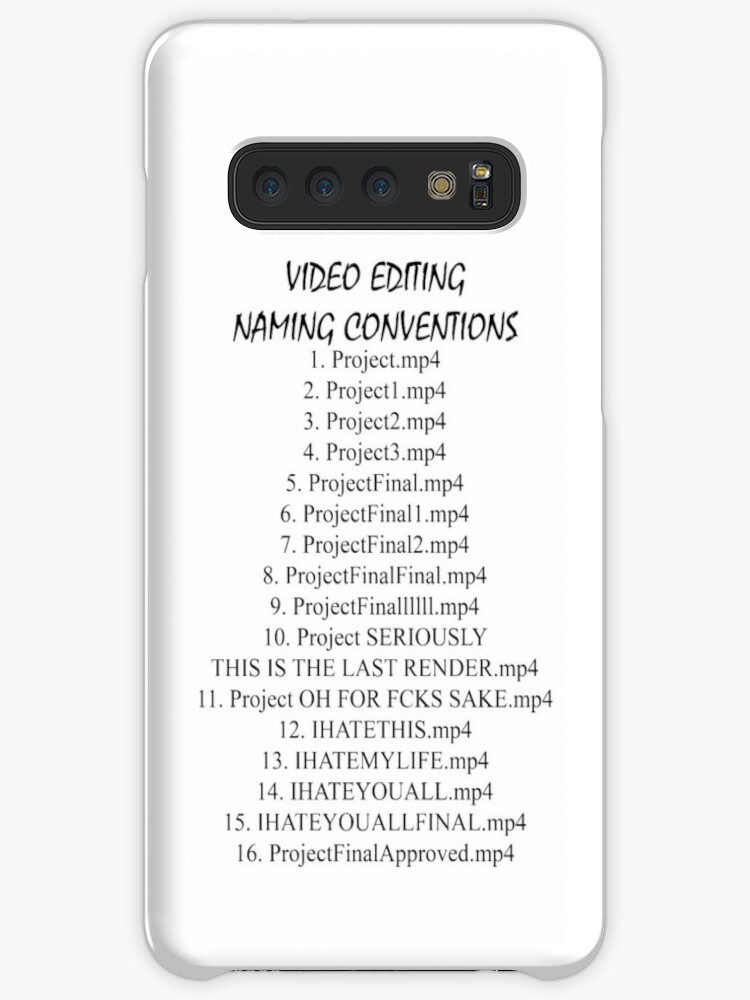 'Video Editing Naming Conventions' Case/Skin for Samsung Galaxy by Salvador  Canalizo Corral
