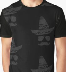 Cinco De Mayo Party Mustache Mexican Hat Funny T Shirt Tee Graphic T-Shirt