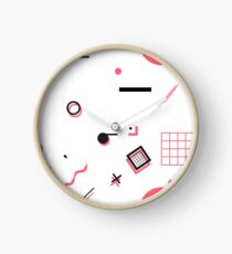 80's Shapes (3) Clock