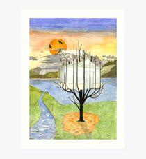 Harvest of a Glasshouse Art Print