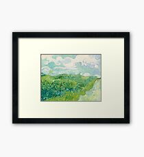 Vincent van Gogh Green Wheat Fields, Auvers 1890 Painting Framed Print