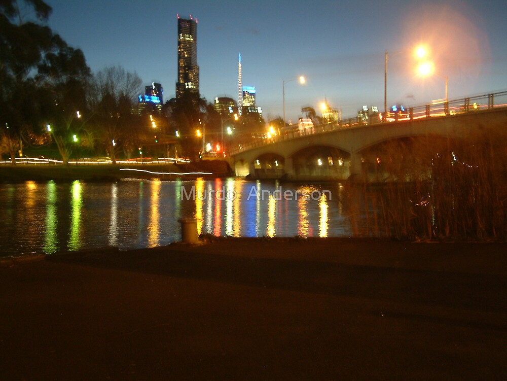 Melbourne, Night Again by Murdo  Anderson