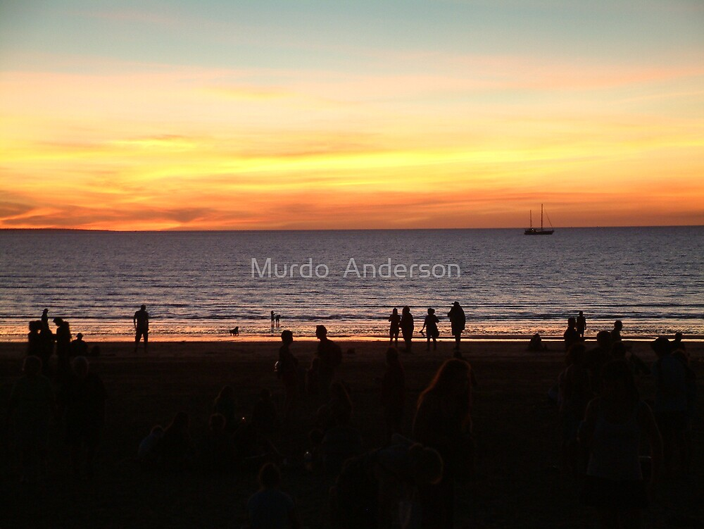 Sunset Over Mindel Beach by Murdo  Anderson