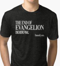 Neon Genesis Evangelion - I need you. Tri-blend T-Shirt