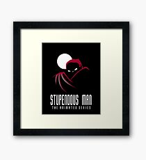 Stupendous Man The Animated Series Framed Print
