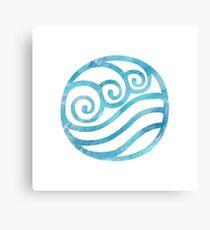 Watercolor Water Tribe Symbol Canvas Print