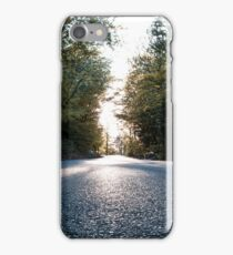 Asphalt through the nature iPhone Case/Skin
