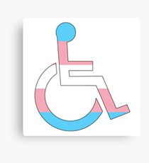 Disabled Trans Pride Canvas Print