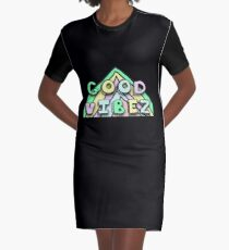 Good Vibez Graphic T-Shirt Dress