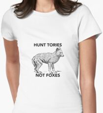 Hunt Tories Not Foxes  Womens Fitted T-Shirt