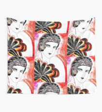 RED DECO Jacqueline Mcculloch House of Harlequin Wall Tapestry