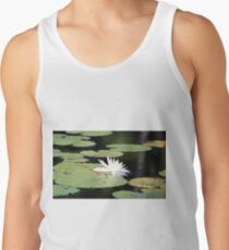 American White Waterlily Tank Top