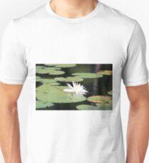 American White Waterlily Unisex T-Shirt