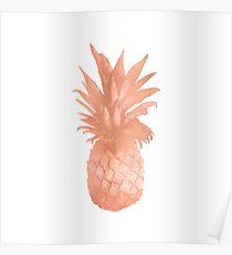 Pineapple Rose Gold Poster