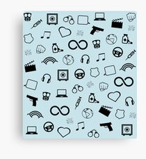 Sense8 pattern - black  Canvas Print