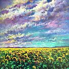 California Sunflower Days Just Sold To A Collector In North Carolina by Randy Burns