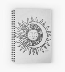 Sol Y Luna Dibujo Cuadernos De Espiral Redbubble