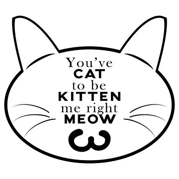 Cat pun - You've cat to be kitten me by Lasher