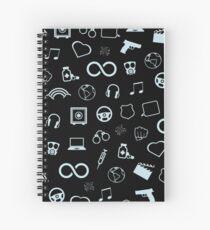 Sense8 pattern - light blue Spiral Notebook