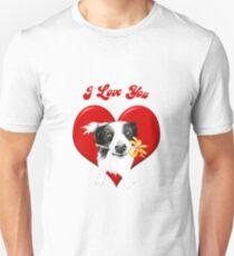 Border Collie Big Heart Unisex T-Shirt