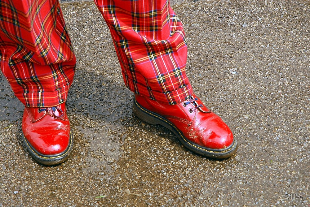 Red Shoes, Plaid Trews by Billlee