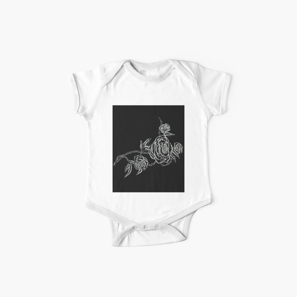 Inked Roses - Invertido Bodies para bebé