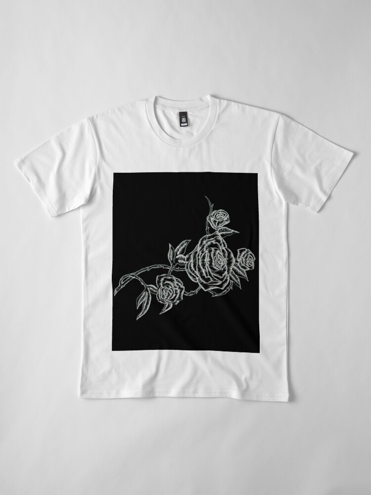 Vista alternativa de Camiseta premium Inked Roses - Invertido