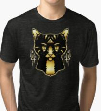 Gold Cat Tri-blend T-Shirt