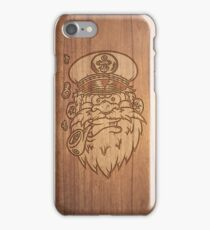 Captain Salty on Wood. iPhone Case/Skin
