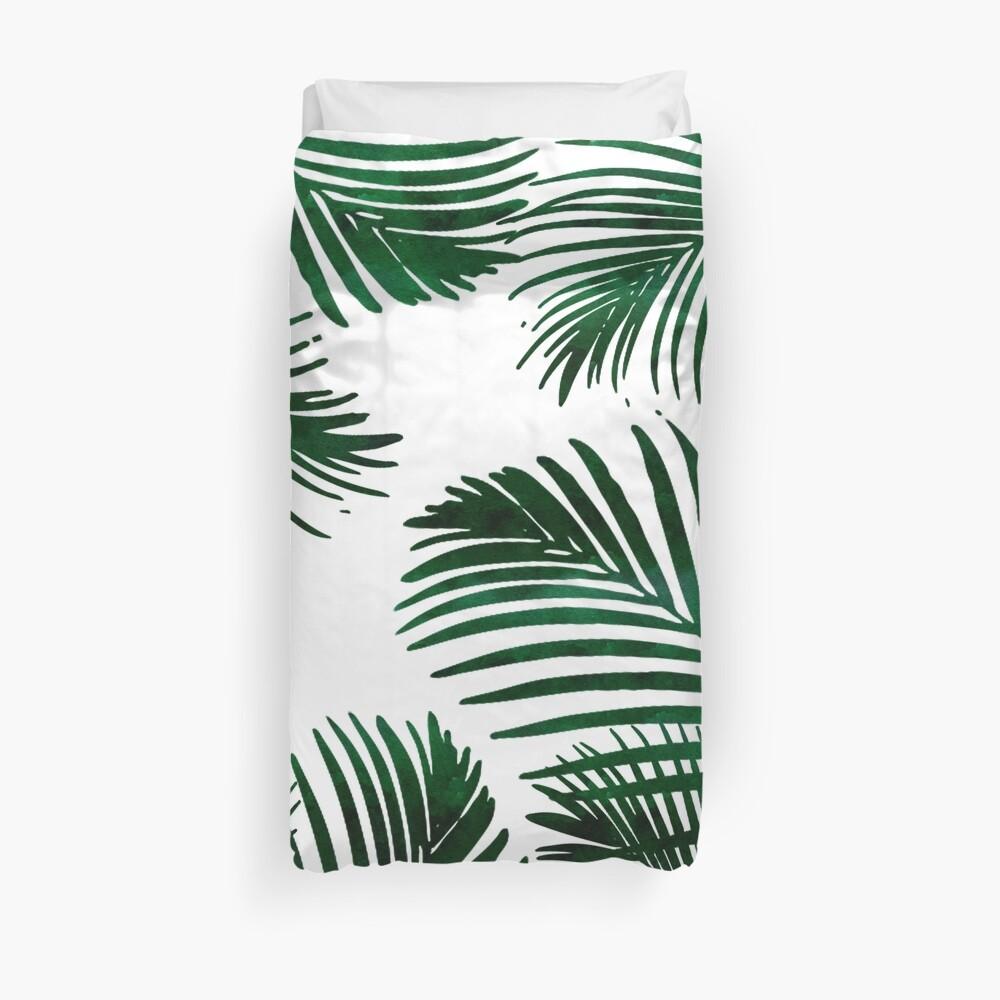Tropical Palm Leaf Duvet Cover