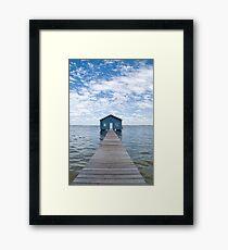 """""""Crawley Edge"""" Boatshed, Perth, Western Australia Framed Print"""