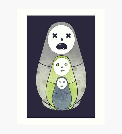 Zombie nesting dolls  Art Print