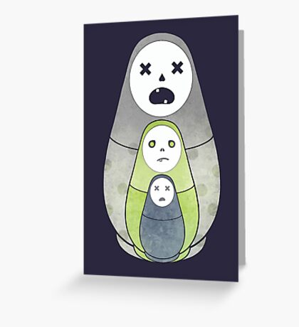 Zombie nesting dolls  Greeting Card