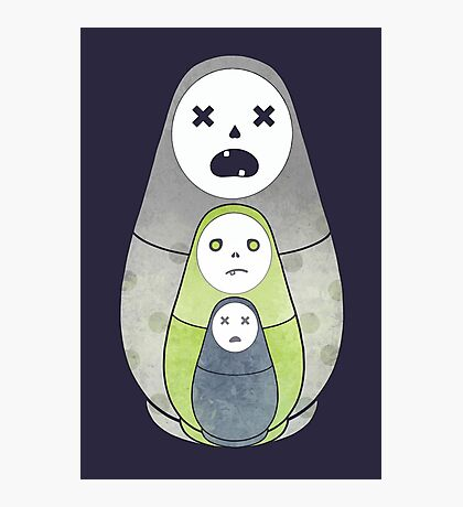 Zombie nesting dolls  Photographic Print