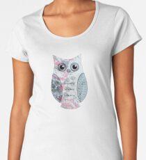 Floral Owl Women's Premium T-Shirt