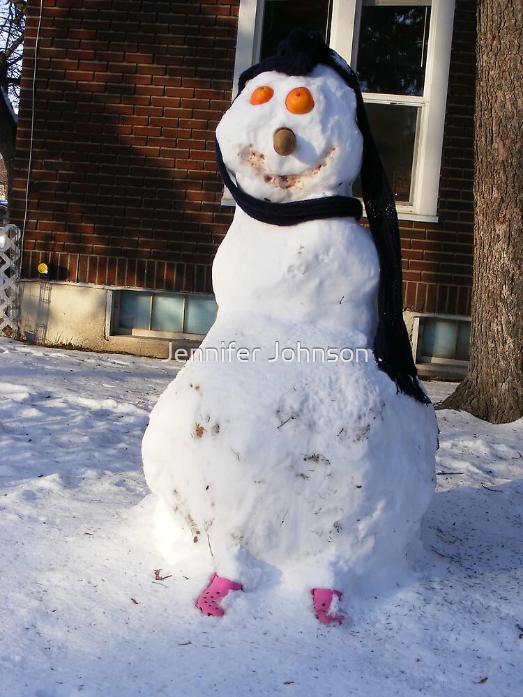 Snow man by Jennifer Johnson